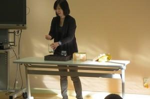 今日は,大川先生のお話がありました。毎日の頑張りの大切さを,目で見て解ることができました。\