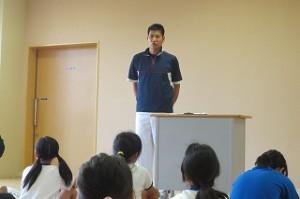 後藤先生から競技中の諸注意がありました。\
