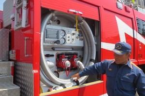 消防自動車の説明もしてくださいました。\\