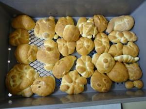 2年生が作ったパンです。おいしそう。\