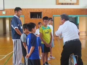 鹿嶋警察署から増古さんが指導に来てくださいました。\
