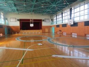 子どもたちが来る前「技能走行」のコースを撮りました。\