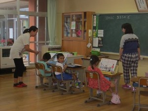 授業参観時の,1年生授業風景です。\\