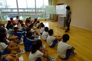 2年生は国語で,夏休みの思い出を紹介する学習をしたそうです\