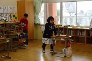 4年生の教室掃除
