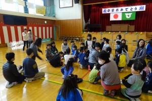 4・5年生考案の「集合」ゲームです。登校班の集まりで集まったり,・・・